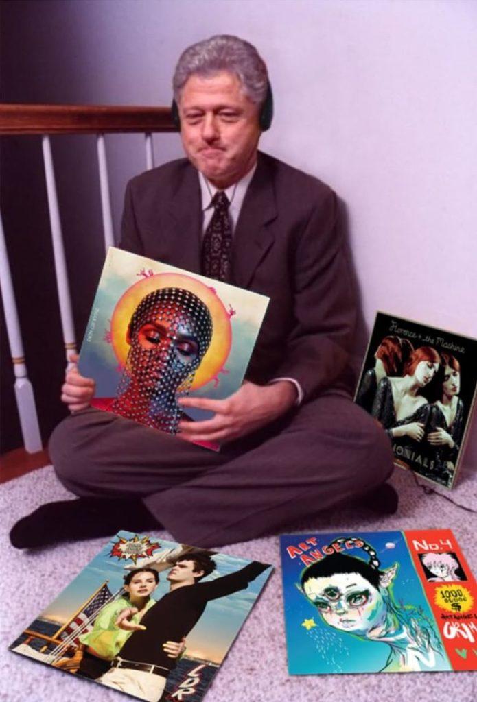 bill clinton record instagram, bill clinton record, four album instagram, instagram challange, bill clinton instagram
