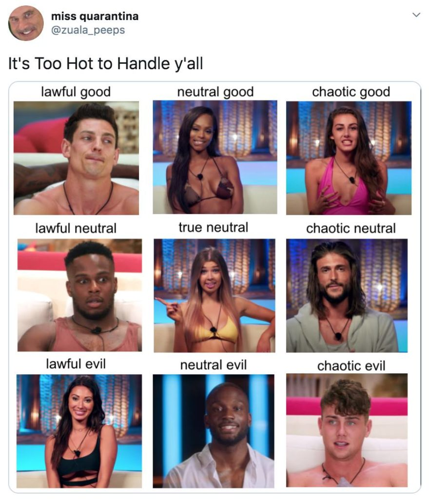 Too Hot To Handle, Netflix, memes, meme, reaction, Twitter, review
