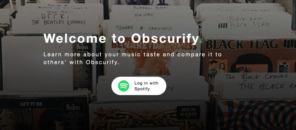 Obscurify, Spotify, obscure, music, taste, rating, percentage, score, how it works, get, here, website