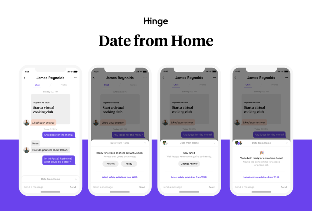 hinge date from home, hinge, date from home, hinge date from home feature, hinge video call, hinge phone call,