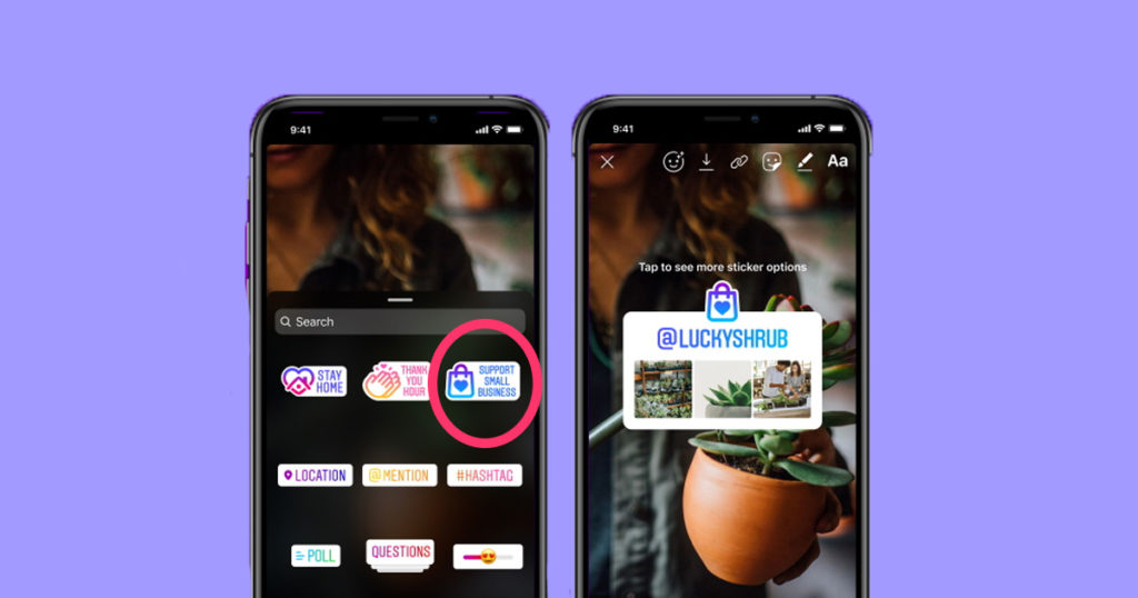 support small businesses, small, business, Instagram, story, filter, sticker, how, use, guide, explained