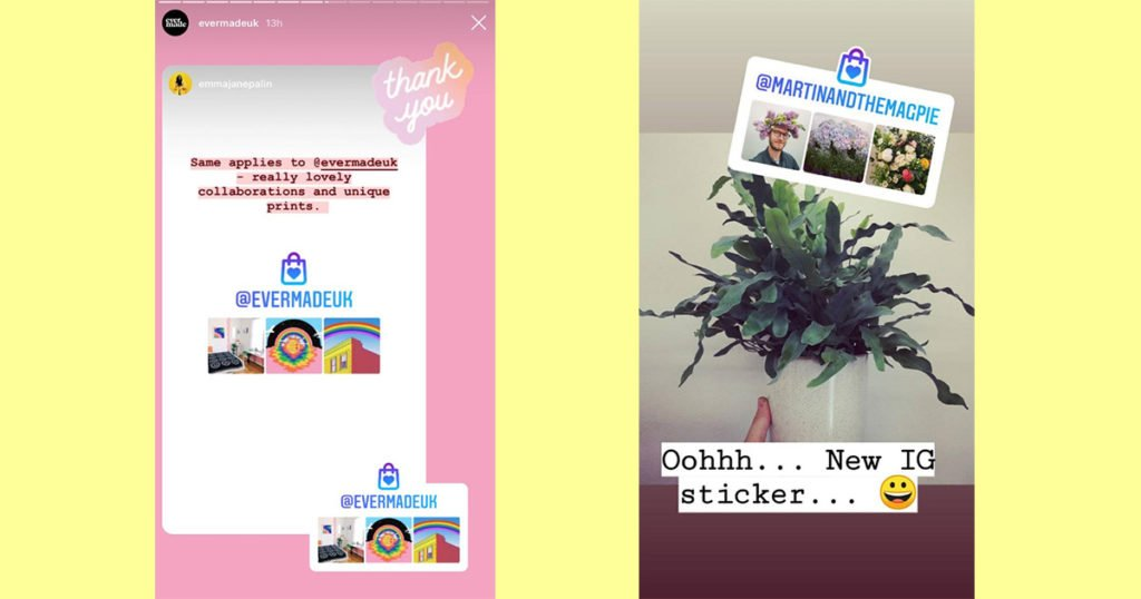 Instagram, small, businesses, feed, story, sticker, preview