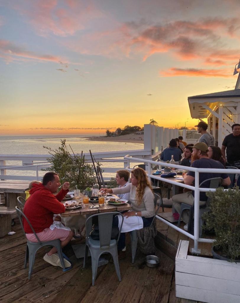 Malibu Farm Restaurant, Dead To Me, Coretta Cafe, Netflix, real