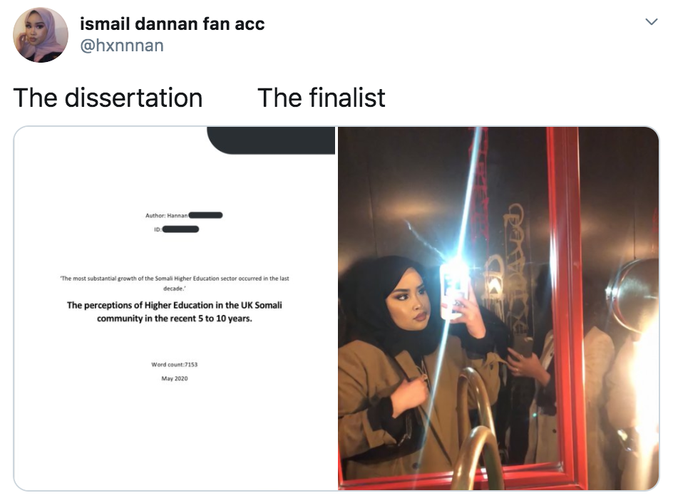 The Dissertation, The Finalist, The Graduate, memes, meme, viral, Twitter, diss, hand in, picture