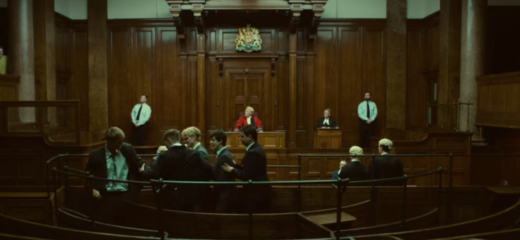 White Lines, Netflix, filming, locations, where, filmed, set, court, room, Manchester