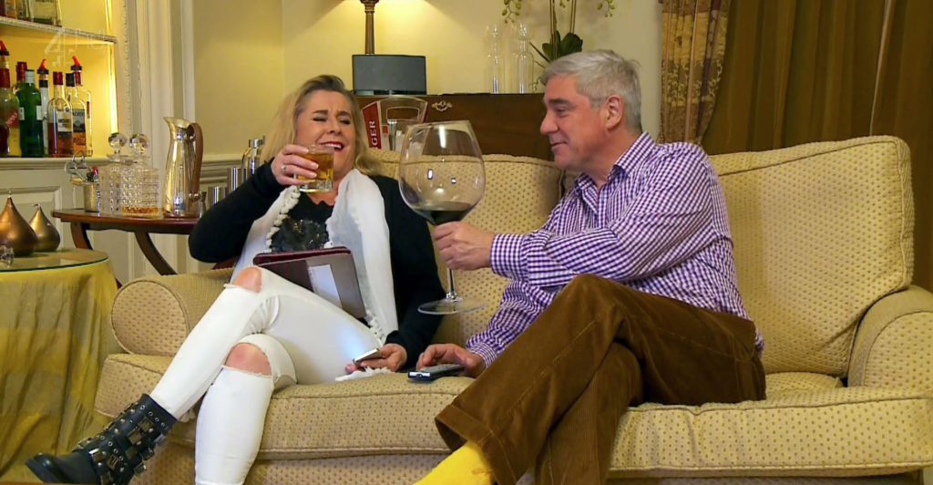 original gogglebox cast members, steph and dom