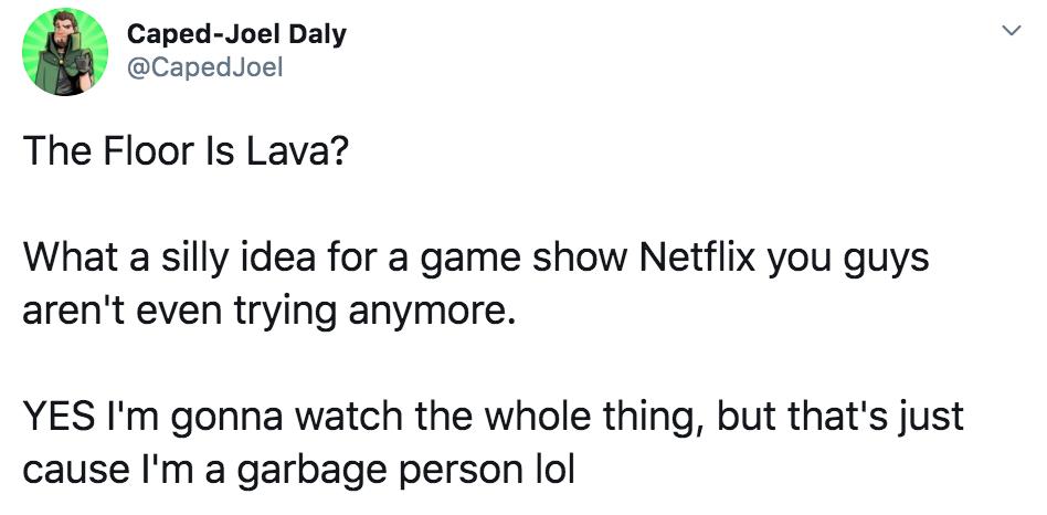 Floor Is Lava, memes, meme, reaction, Twitter, Netflix, challenge, game, reality, show, series, reviews