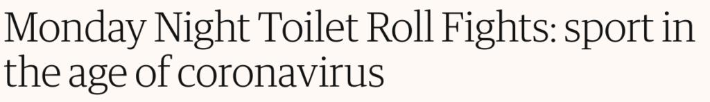2020, headlines, news, stories, toilet roll, fight, supermarket, lockdown