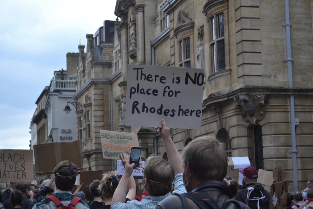 Thousands of protestors in Oxford demand removal of imperialist Cecil Rhodes statue