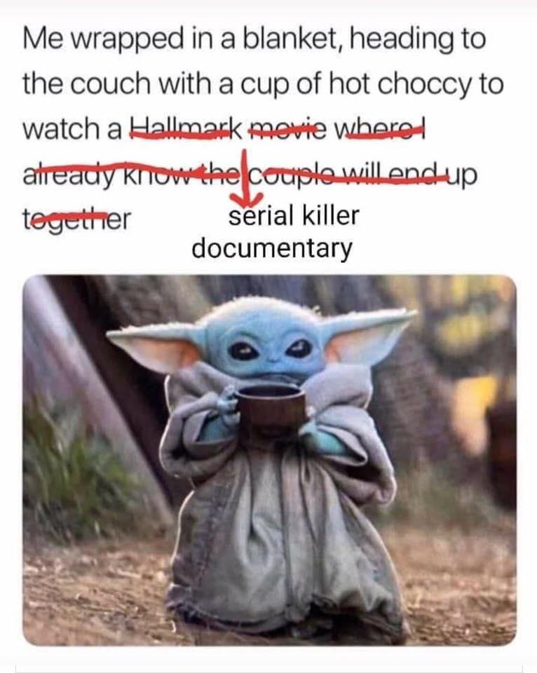 Netflix, memes, funny, meme, reaction, true crime, documentary, addict