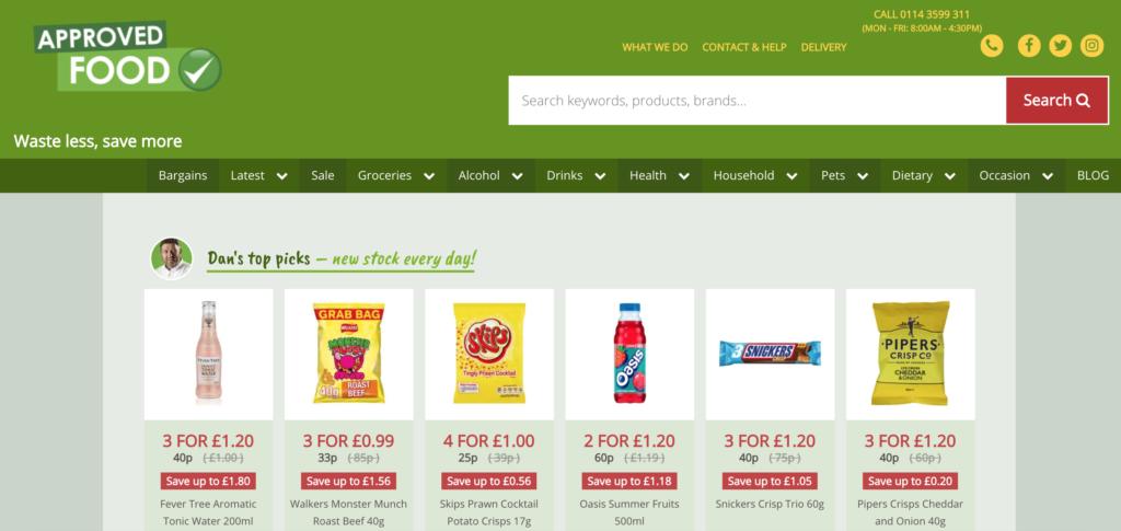 Approved Food, online, website, food, shop