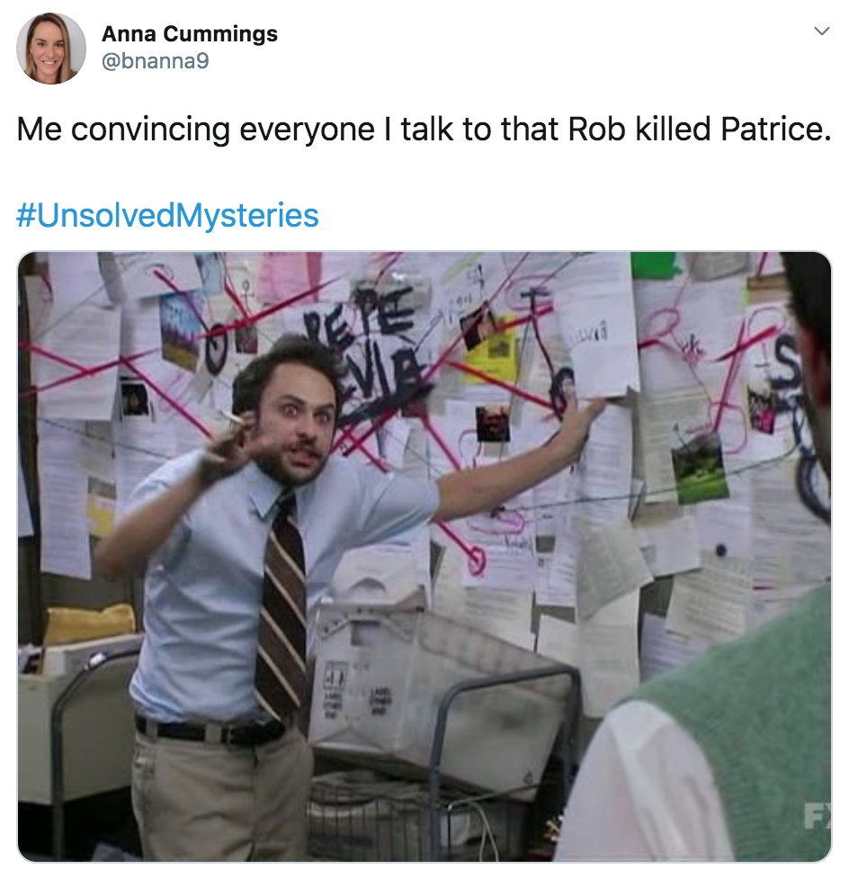 Unsolved Mysteries, Netflix, reactions, memes, Twitter, Patrice, Rob, Carole Baskin, review, series