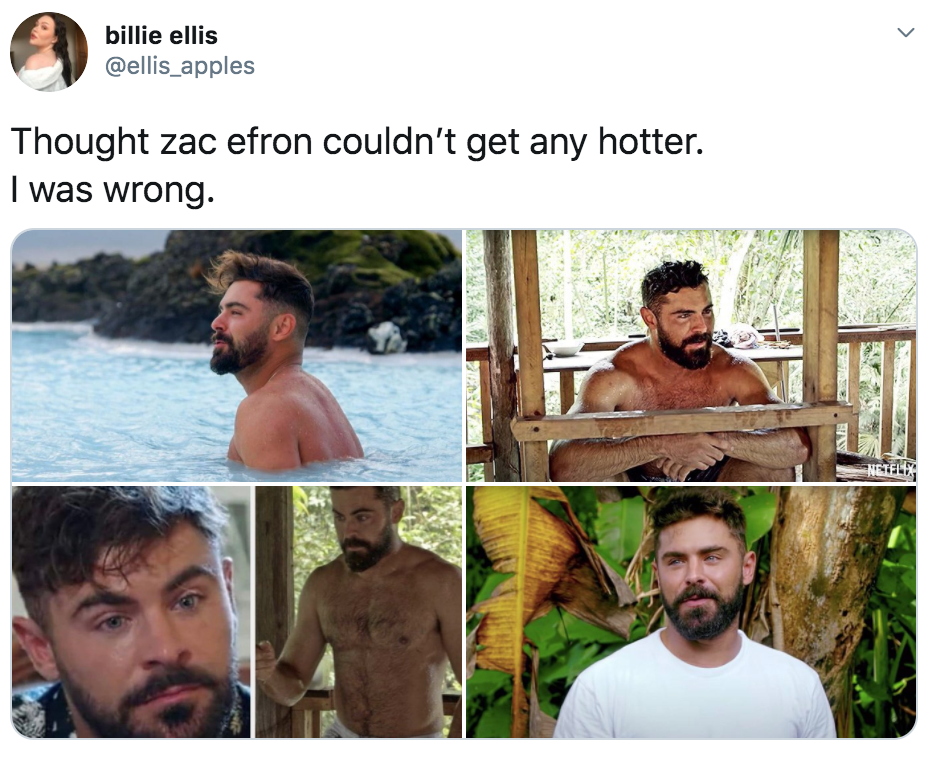 Down To Earth, Zac Efron, Down To Earth With Zac Efron, Netflix, travel, environment, memes, meme, series, reactions, thirsty, reviews, Twitter
