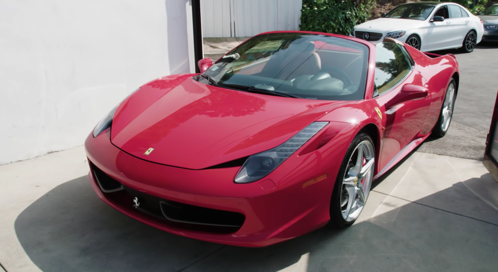 david dobrik car, ferrari, house, youtuber houses