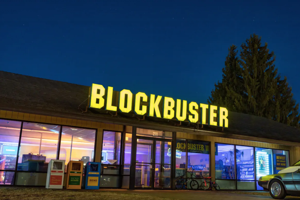 Blockbuster, Airbnb, stay, book, location, how, store, last, ever, sleepover