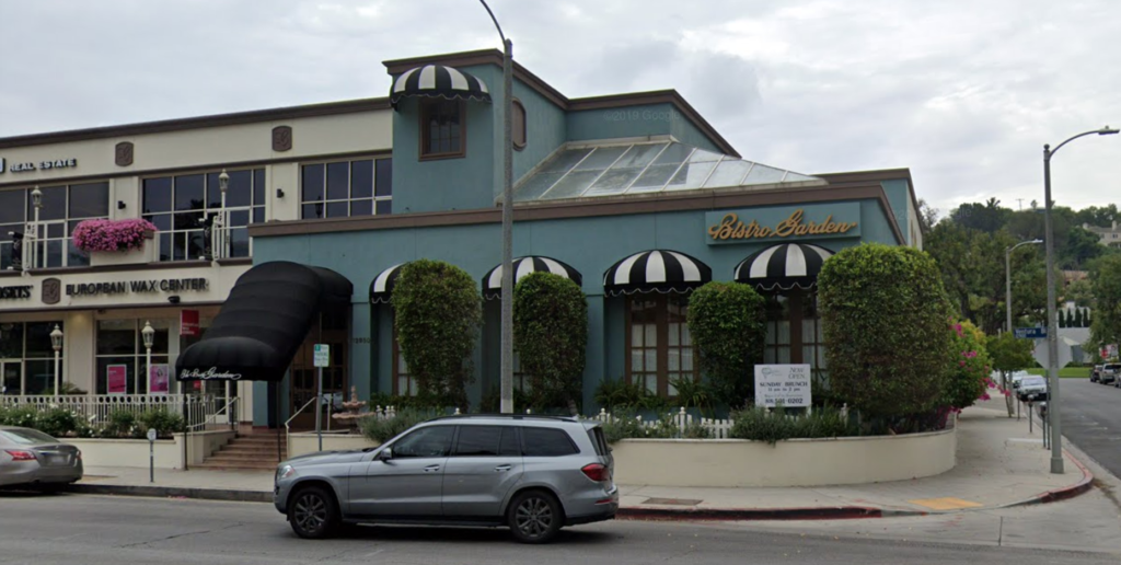 Bistro Garden, Studio City, Los Angeles