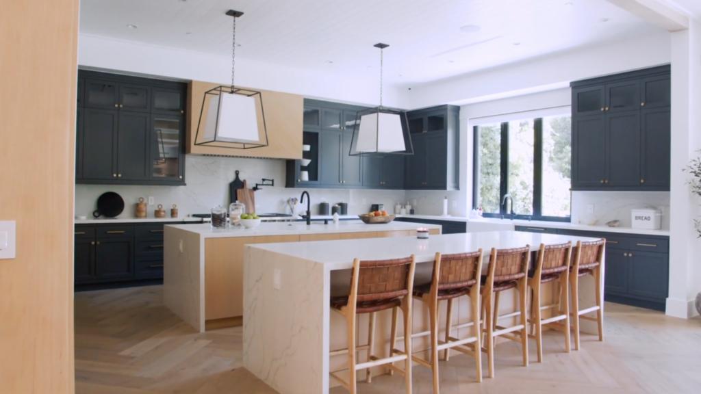 james charles kitchen, island