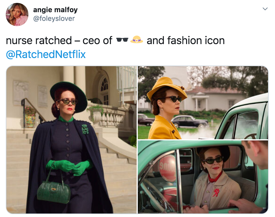 Ratched, memes, meme, reactions, Nurse Mildred Ratched, Netflix, series, show, outfits, fashion