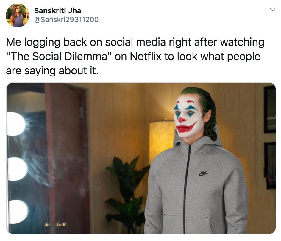 The Social Dilemma, Netflix, memes, meme, reaction, Twitter, reviews, documentary