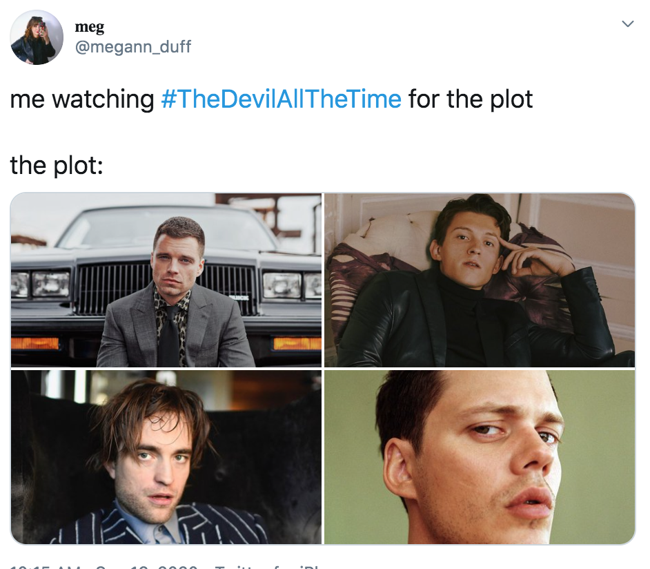 Character posters for Netflix's The Devil All the Time released
