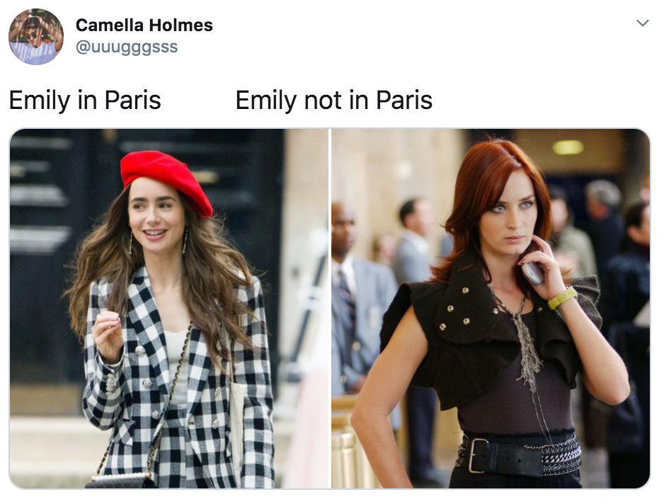 Emily In Paris, memes, reactions, Twitter, reviews, Netflix, series, show