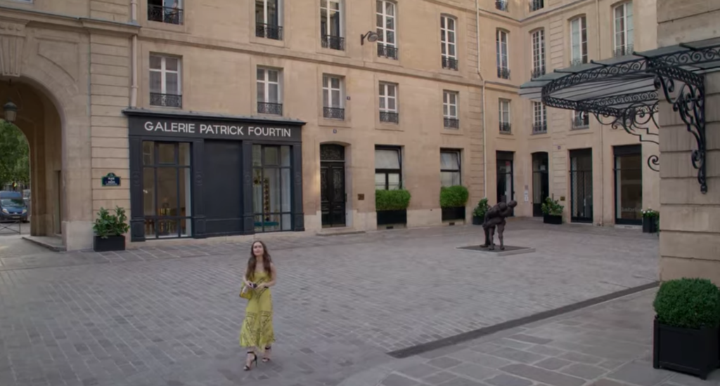 Emily In Paris, filming locations, where, filmed, set, real life, Paris, Netflix, series, show, office, Savoir, Galerie Patrick Fourtin