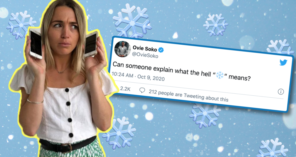 Right, why is the snowflake ❄️ emoji all over Twitter right now?