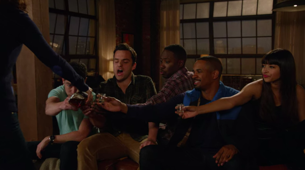 true american, new girl, drinking game, rules