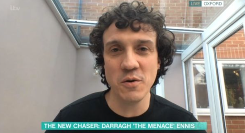 The Chase, new chaser, Darragh Ennis, The Menace, ITV, new, age, job, work, Oxford, Irish