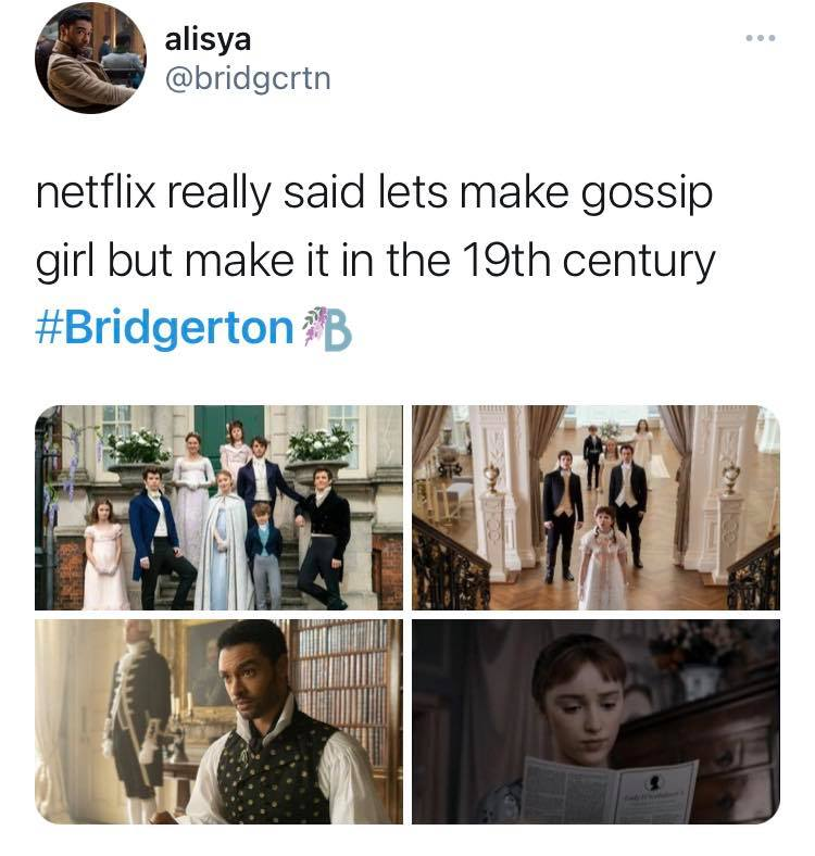 Bridgerton, Netflix, memes, meme, reaction, review, Twitter, best, funny, show, period, drama, gossip girl, scandal, plot