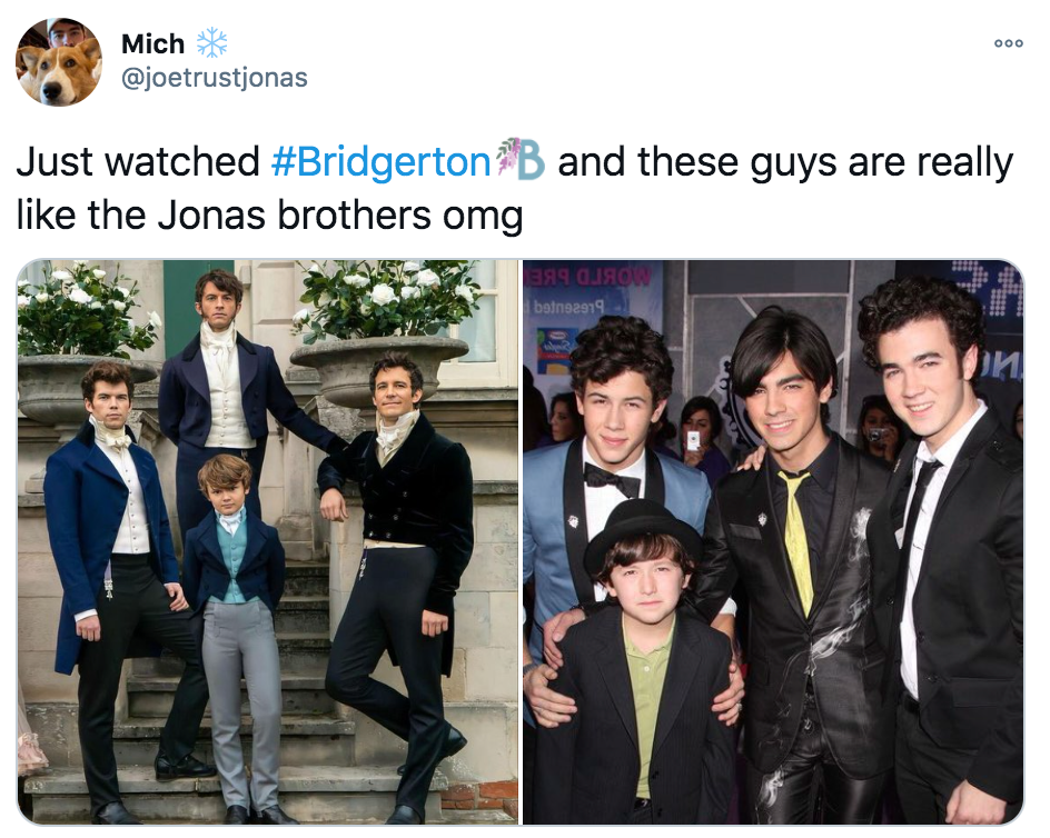 Bridgerton, Netflix, memes, meme, reaction, review, Twitter, best, funny, show, period, drama, Jonas Brothers
