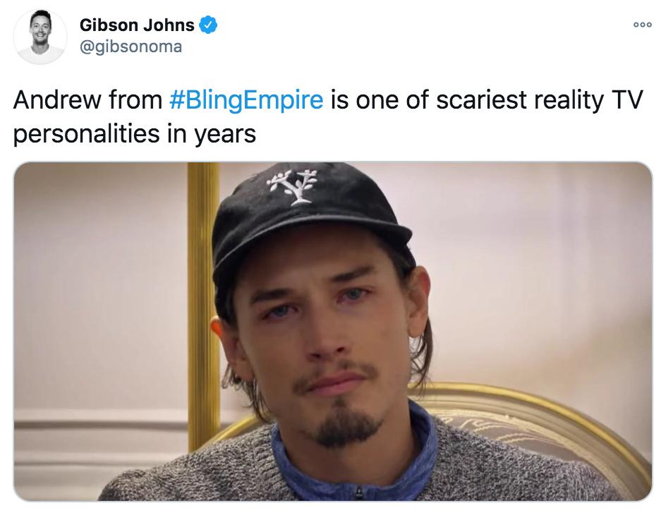 Bling Empire, memes, meme, reaction, Netflix, funny, review, Twitter, Andrew
