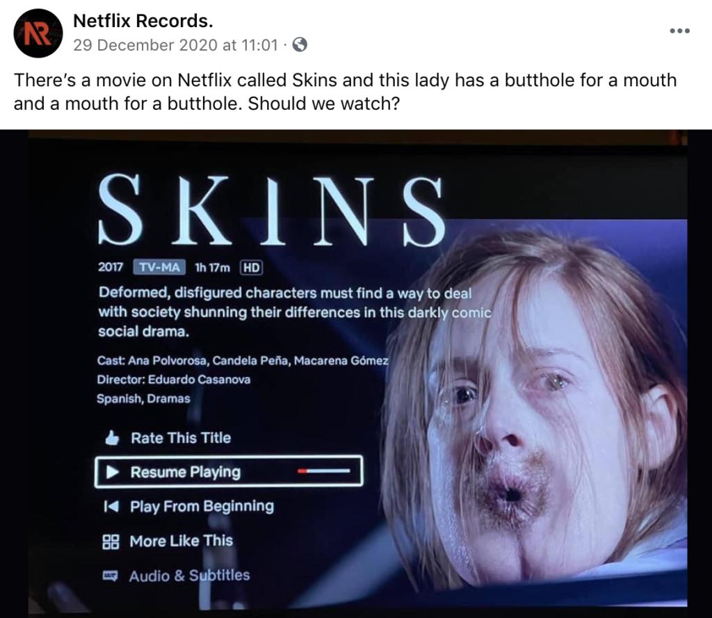 Skins, Netflix, film, movie, Spanish, real, viral, plot, watch, about