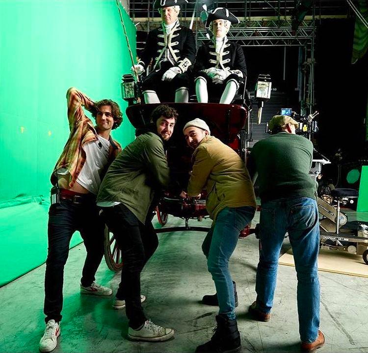 bridgerton cast, behind the scenes, pics, photos
