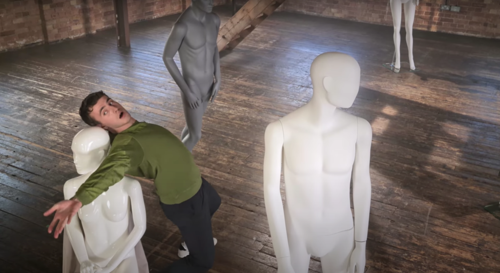 paul mescal dancing, samsung ad, mannequins, warehouse