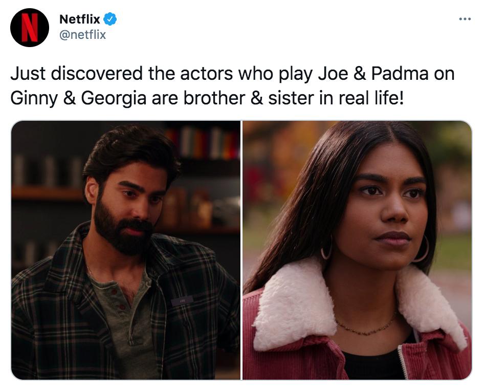 Ginny and Georgia, memes, meme, reaction, Twitter, Netflix, Joe, Padma