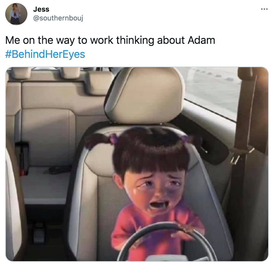 Behind Her Eyes, memes, reactions, Netflix, Adam, Louse, Rob, Adele, David, Twitter, ending