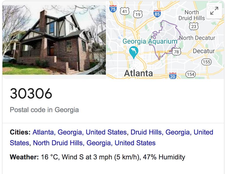Georgia, code, 30306