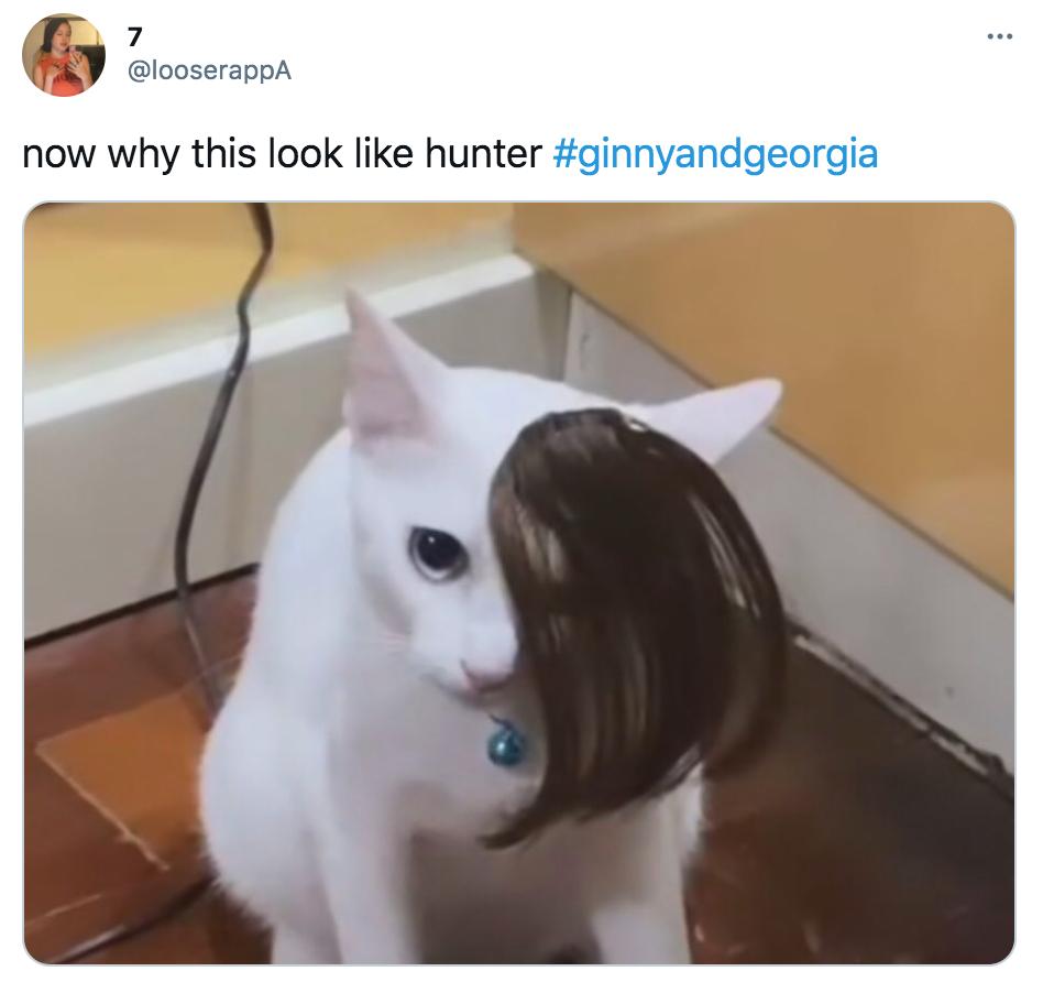 Ginny and Georgia, Hunter, memes, meme, reaction, Twitter, Netflix