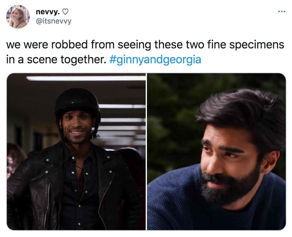 Ginny and Georgia, guys, Netflix, memes, meme, reactions, Twitter, Joe, Zion