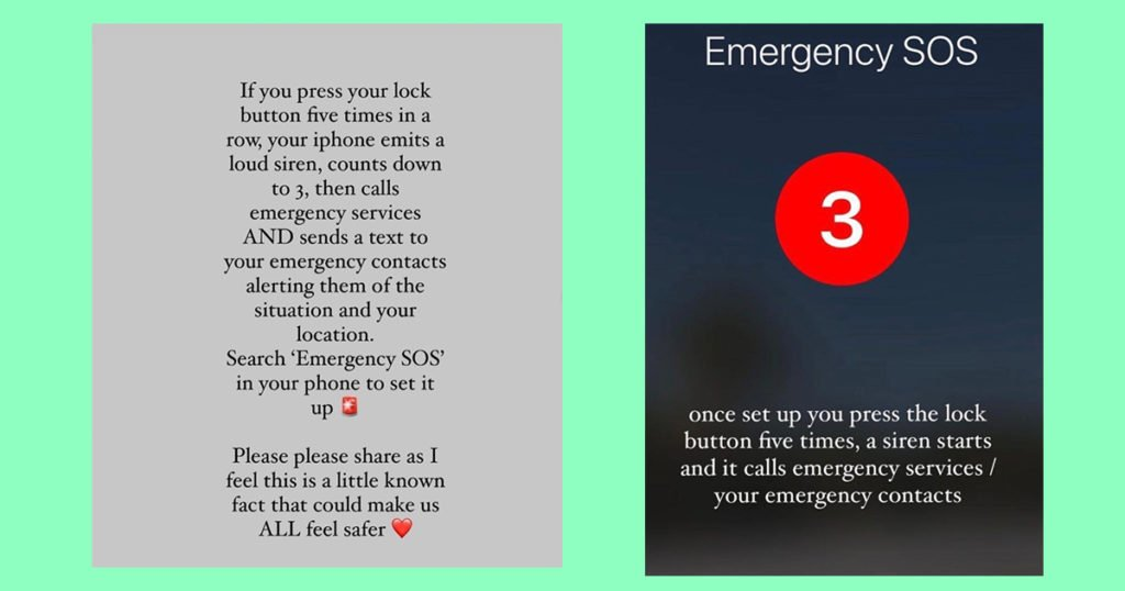 emergency SOS, message, set up, how to, guide, iPhone, Android, contacts, sirens, location