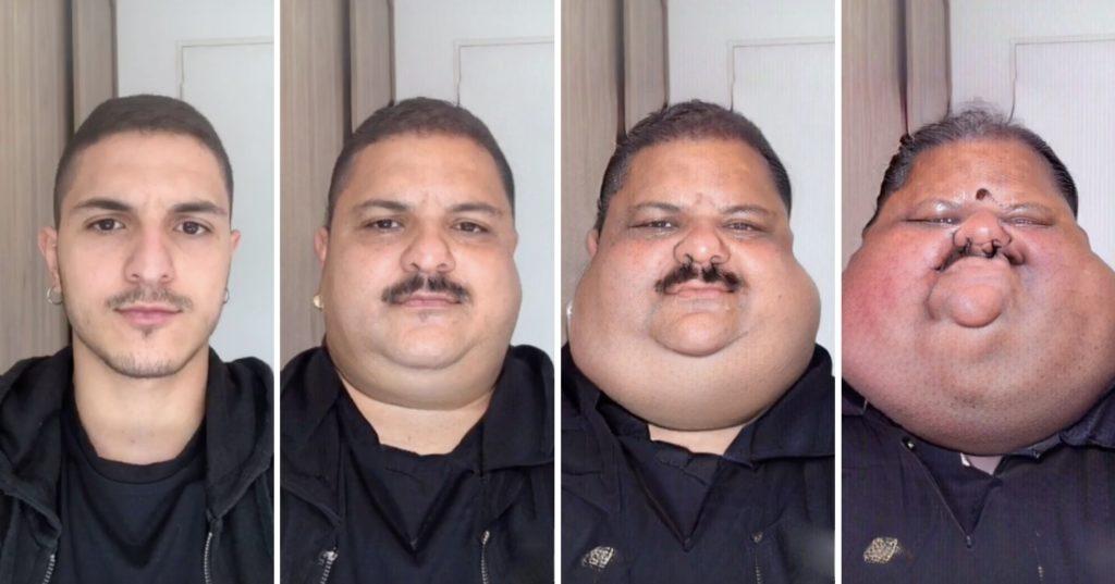 big face filter tiktok