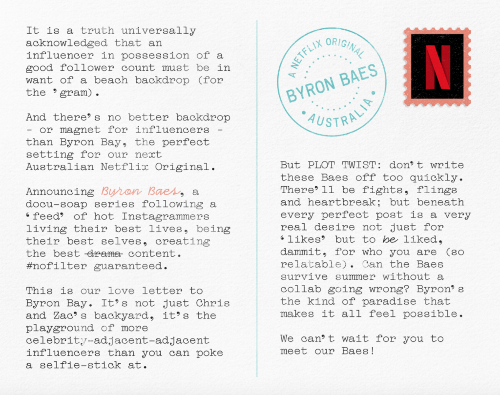 Byron Baes, Netflix, reality, series, show, Australia, Byron Bae, influencers, release