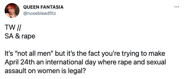 April 24th, national rape day, tiktok