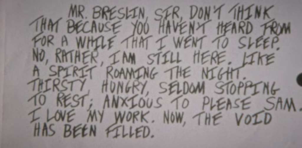 letter, full, read, David Berkowitz, Netflix, true crime, documentary, Jimmy Breslin