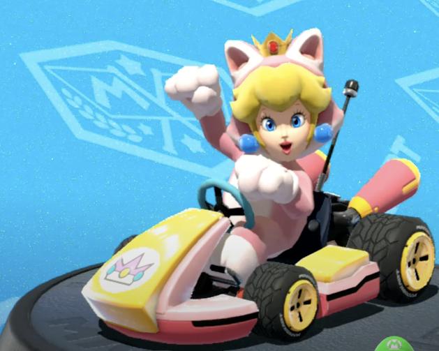 Cat Peach, Mario Kart