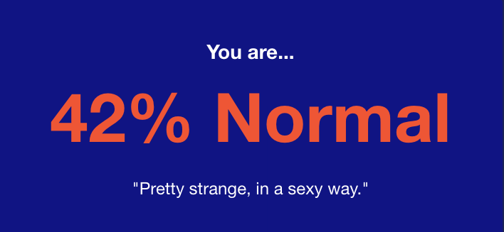 How normal are you quiz