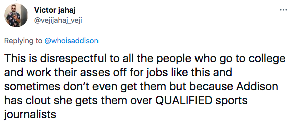 Addison Rae ufc reaction tweet