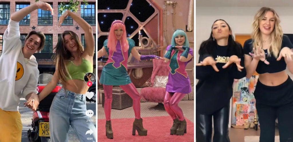Pink girls glitter twirls TikTok sound