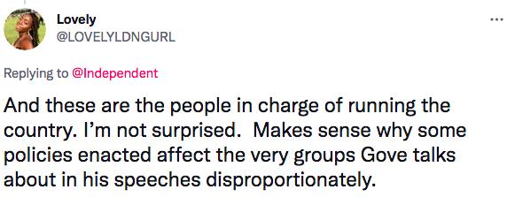 Michael Gove racist homophobic sexist comments